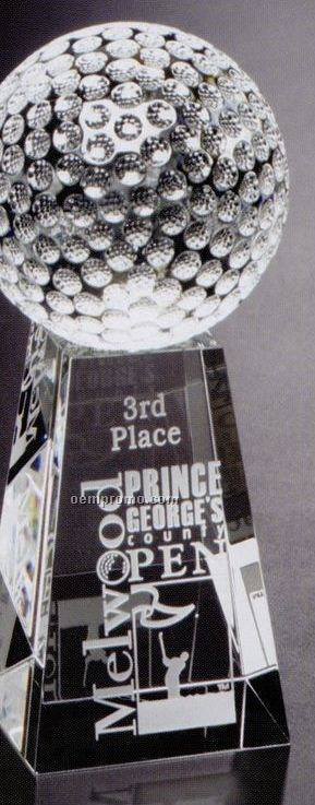 """Sports Gallery Crystal Tapered Golf Award (7"""")"""