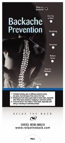 Backache Prevention Pocket Slider Chart/ Brochure