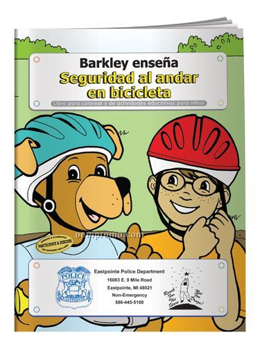 Coloring Book - Barkley Teaches Bicycle Safety(Spanish)