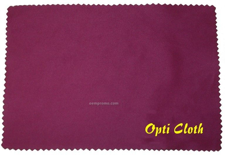 """Deluxe 3.5"""" X 5"""" Wine Color Opticloth With Silk Screened Imprint"""
