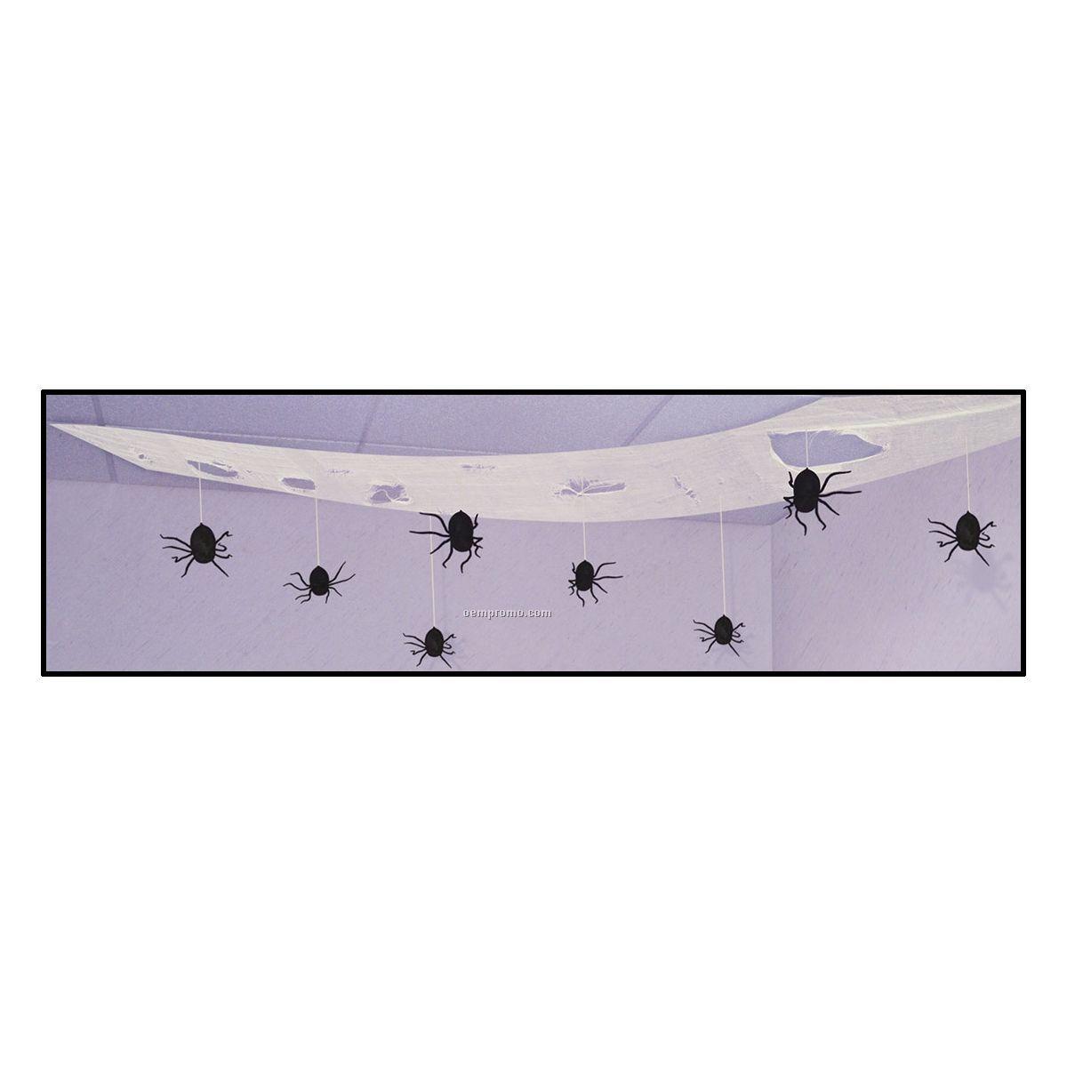 Spooky Spider Ceiling Drape