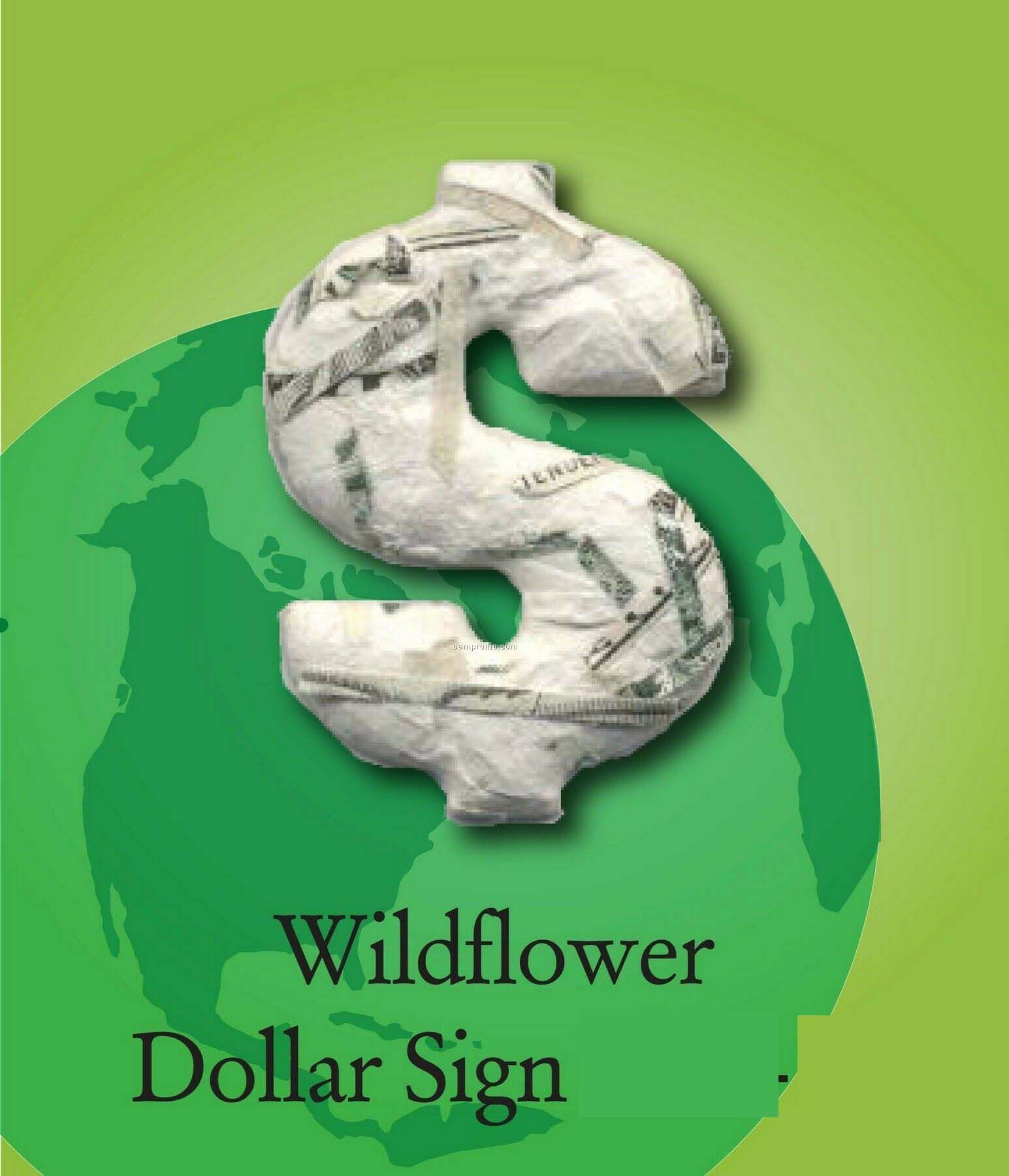 Wildflower Dollar Sign Handmade Seed Plantable Mini