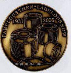 """2"""" Die Struck Copper Or Brass Coin"""