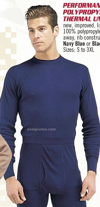 Black Performance Polypropylene Thermal Underwear Top