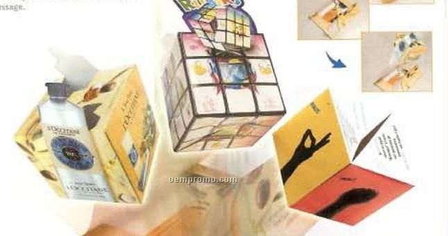 Custom Shape Paper Pop Up Puzzle Cube