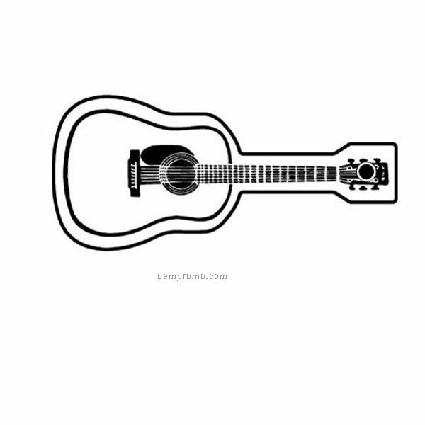 Stock Shape Collection Acoustic Guitar Key Tag