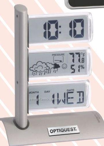 Triple Display Weather Station Alarm Clock