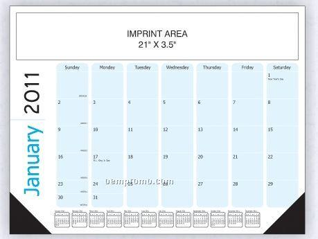 Black / Cyan Desk Calendar (Order By 8/31)
