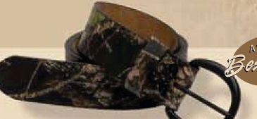 Camo Leather Belt