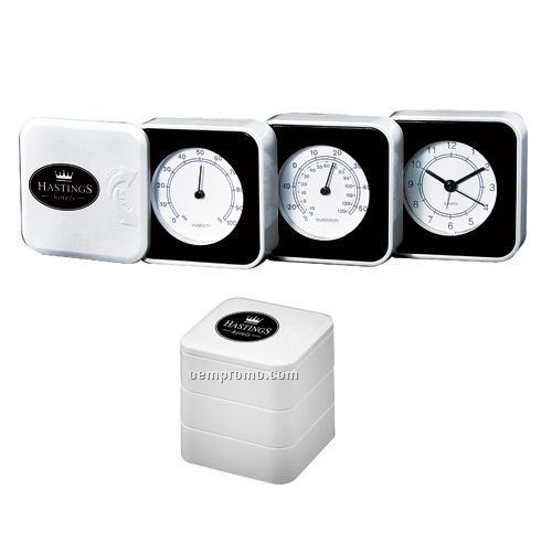 Fold Out Weather Station With Alarm Clock