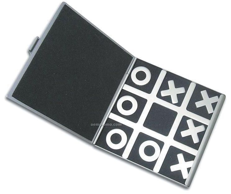 Magnetic Metal Travel Tic Tac Toe Game