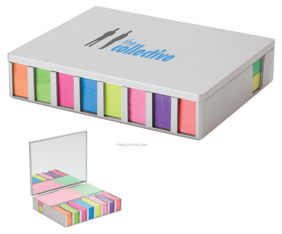 Valumark Sticky Note & Flag Desk Set W/ Mirror