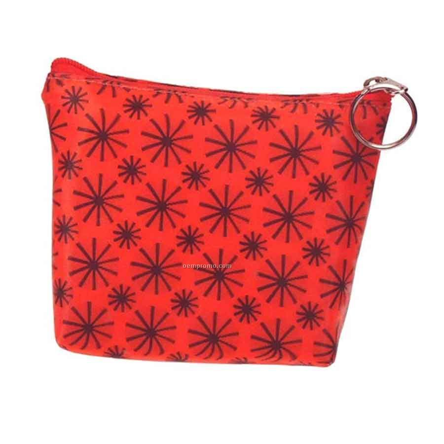 3d Lenticular Purse W/Key Ring Stock / Red Black Stars