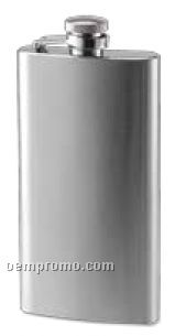5 Oz. Slim Rimless Flask With Brushed Finish