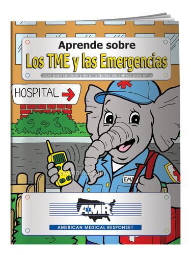 Coloring Book - Learn About Emt's And Emergencies (Spanish)