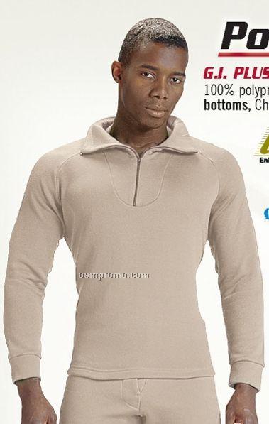Green Gi Plus Extreme Cold Weather Polypropylene Underwear W/ Zip Collar