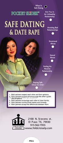Safe Dating Pocket Slider Chart/ Brochure