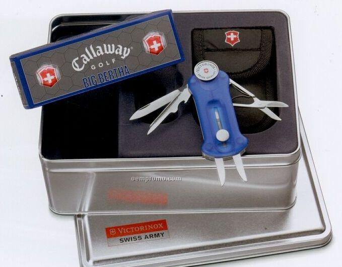 Swiss Army Sapphire Golf Tool/ Callaway Golf Balls Set