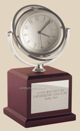 Pedestal Gyro-globe Clock & Frame