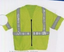 Premium Class III Traffic Safety Yellow Safety Vests (3xl-4xl) Blank