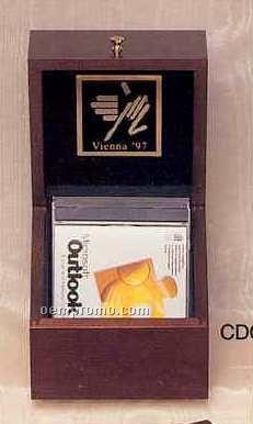 """Cherry CD Case - 6 3/8""""X6 3/8""""X6 1/4"""""""