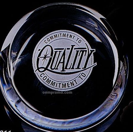 Distinctive Gift Gallery Crystal Slant Top Paperweight
