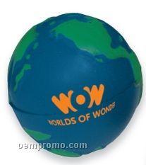 "Earth Globe Stress Ball (2 1/2"")"