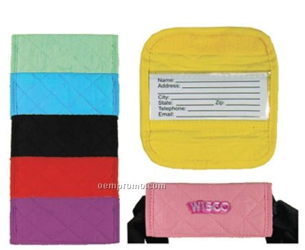 Embroidered Quilted Luggage Id Gripper