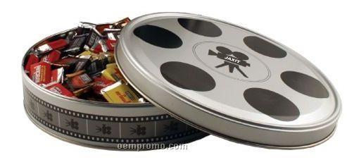 Large Movie Reel Tin W/ Mini Snickers Bars