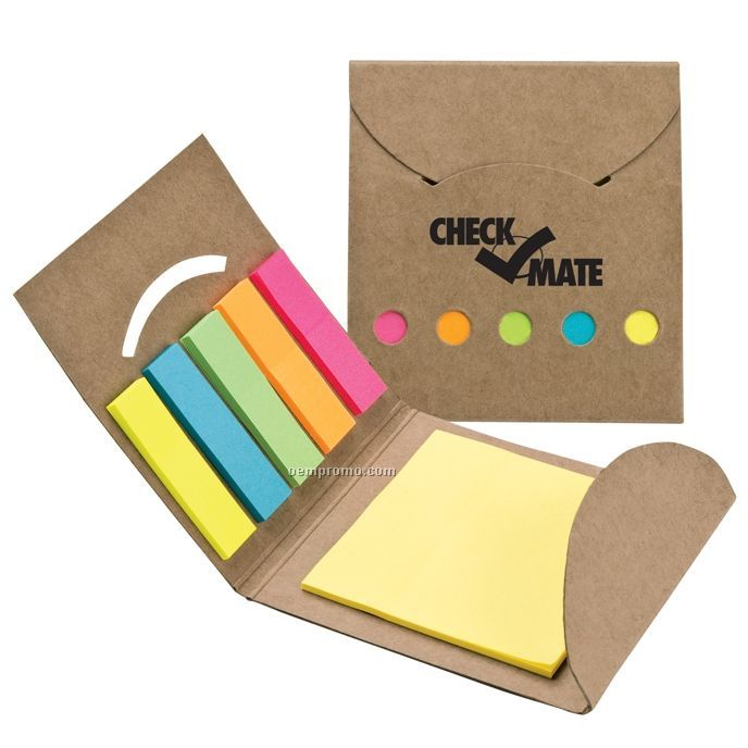 Recycled Note And 5 Color Flag Set