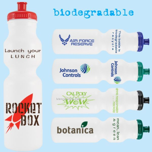 28 Oz. Evolvetm Biodegradable Water Bottle With Push/Pull Lid