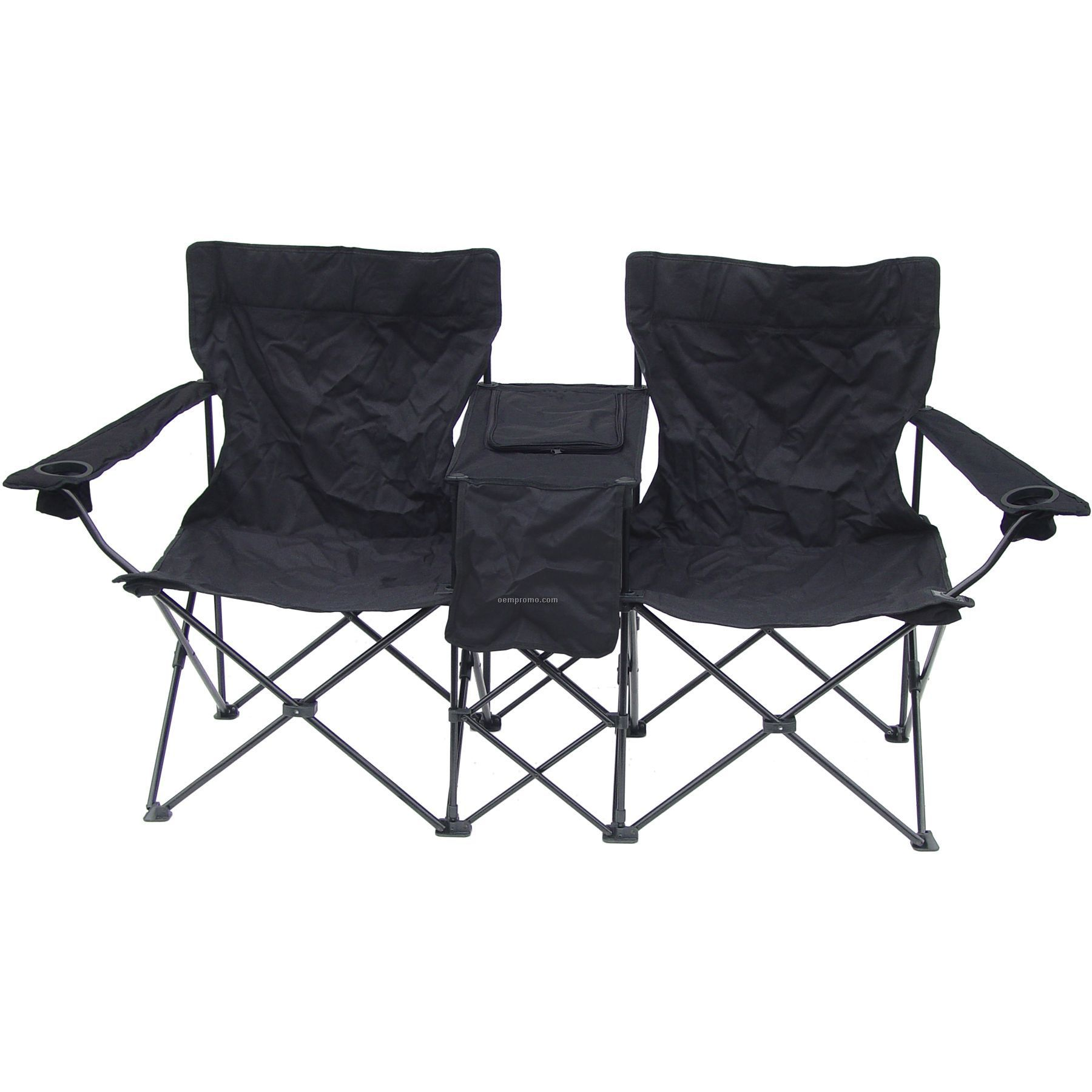 Direct Import Folding Double Chair With Center Table And Cooler