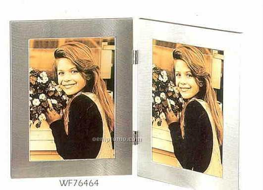 """Picture Frame Collection Simple Silver (5""""X7"""" Double)"""