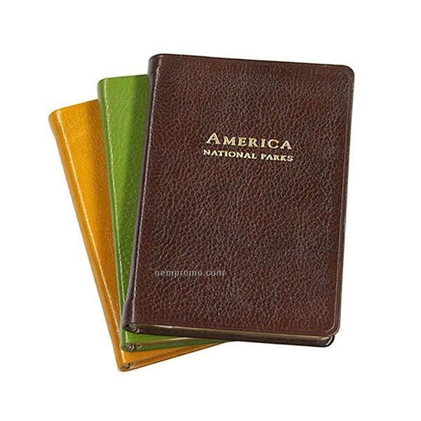 Us Travel America Atlas W/ Premium Brights Leather Cover