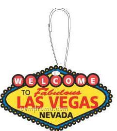 Welcome To Las Vegas Sign Zipper Pull