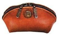 Brown Veg Tanned Calf Leather Coin Purse