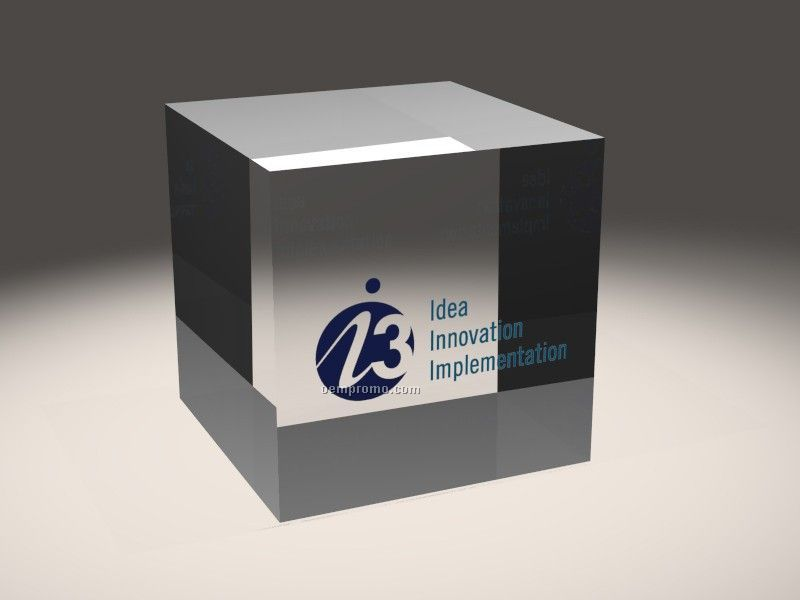 Lucite Embedment Cube Award