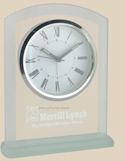 Panel Glass Desk Alarm Clock