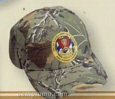Pro Style Cotton Twill Camouflage Cap W/ Curved Bill (Embroidery)
