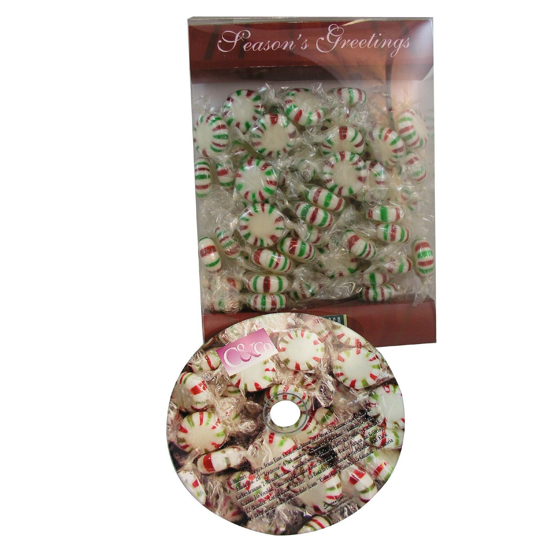 Red White And Green Starlight Mints With #1 Classical Favorites Matching CD