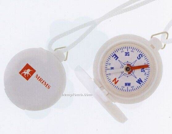 "Round Compass W/30"" Rope Neck Strap"