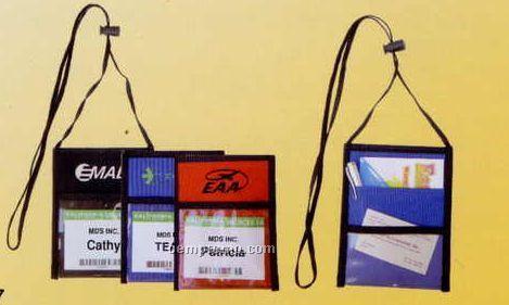 """3-1/4""""X1"""" Neck Wallet W/ Id Window & Open Back Pocket"""