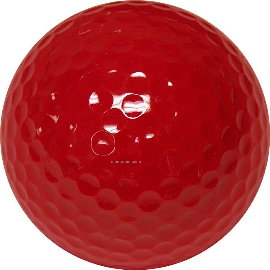 Dark Red Golf Balls (4 Color/Clear 3 Ball Sleeves)