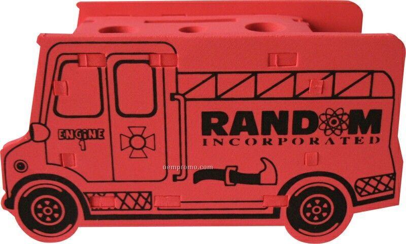 Foam Fire Truck Puzzle Organizer