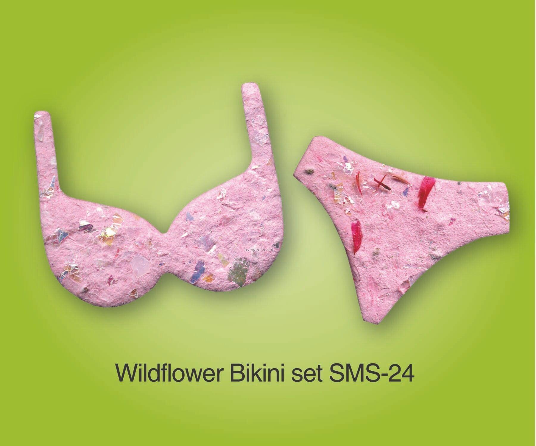 Wildflower Bikini Set Handmade Seed Plantable Mini