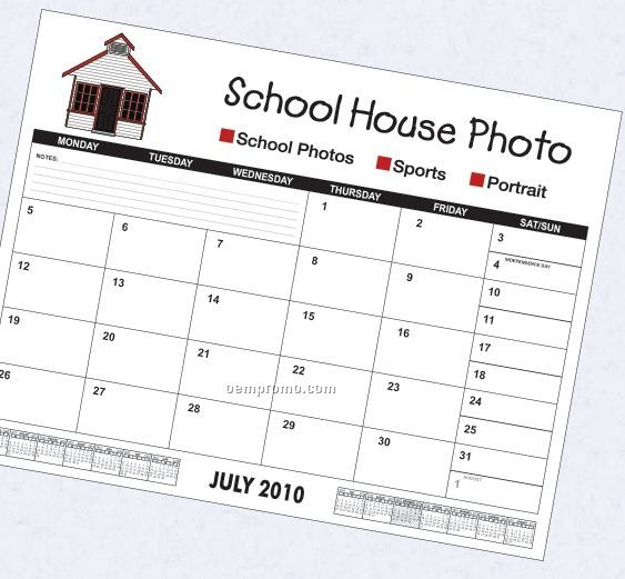 13 month academic desk calendar w combined weekend days china