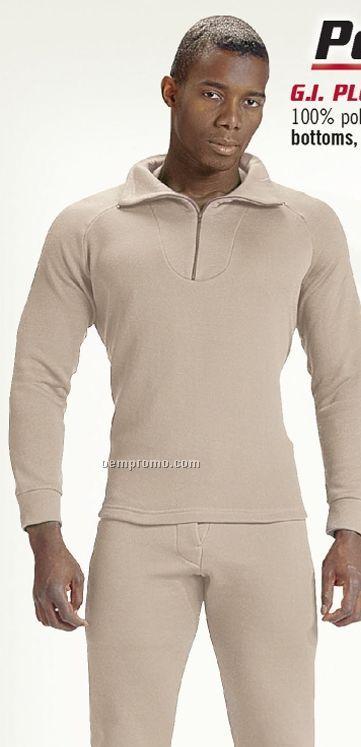 Brown Gi Plus Extreme Cold Weather Polypropylene Underwear W/ Zip Collar
