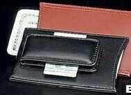 Money Clip & Credit Card Case - Black Leather