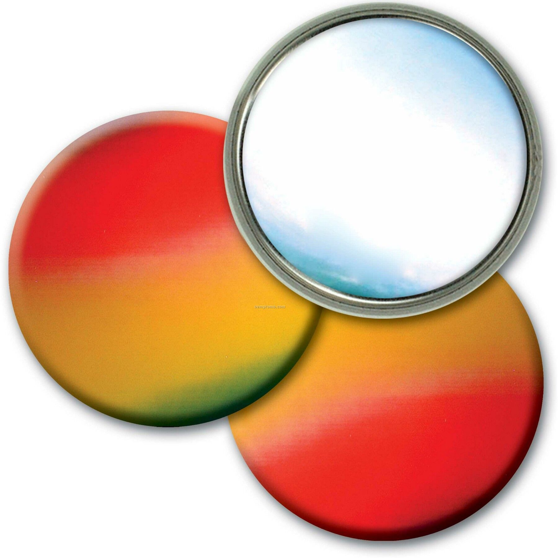 Compact Mirror Lenticular Color Changing Effect (Blank)