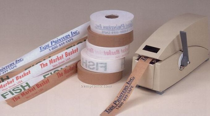 Custom Non-reinforced White Paper Tape (Gummed Side Out)